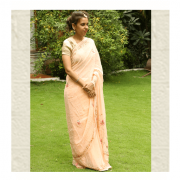 Peach Pale Saree by ThaanIndia in Amravati