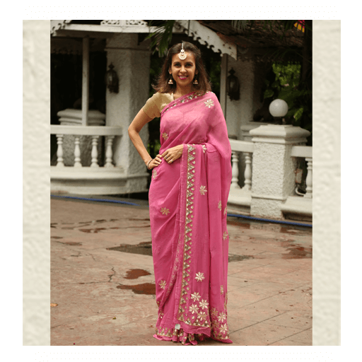 Rani Pink Saree By ThaanIndia