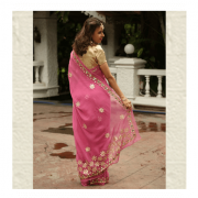 Rani Pink Saree by ThaanIndia in Amravati