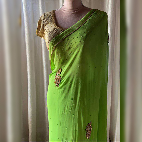 Fresh Green saree
